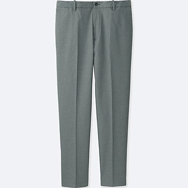 MEN RELAXED ANKLE-LENGTH PANTS, GRAY, medium