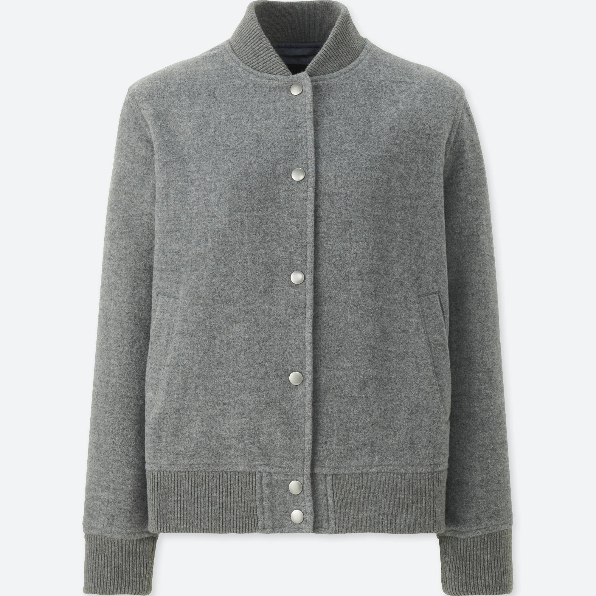 WOMEN WOOL-BLEND BOMBER JACKET | UNIQLO US