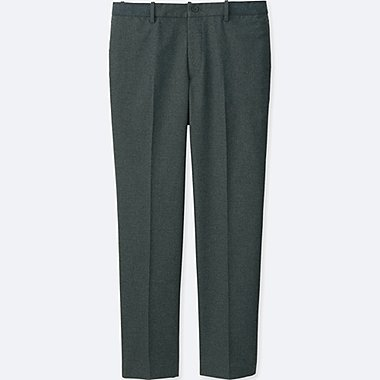 MEN RELAXED ANKLE-LENGTH PANTS (COTTON), GRAY, medium