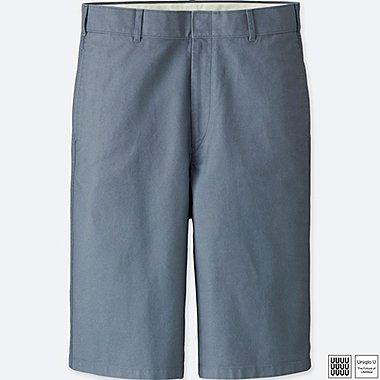 MEN U CHINO 3/4 PANTS, GRAY, medium