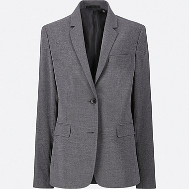 WOMEN STRETCH JACKET, GRAY, medium