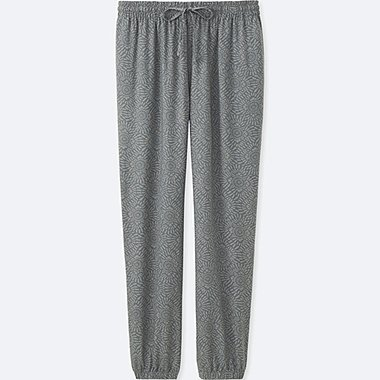 WOMEN DRAPE PANTS, GRAY, medium