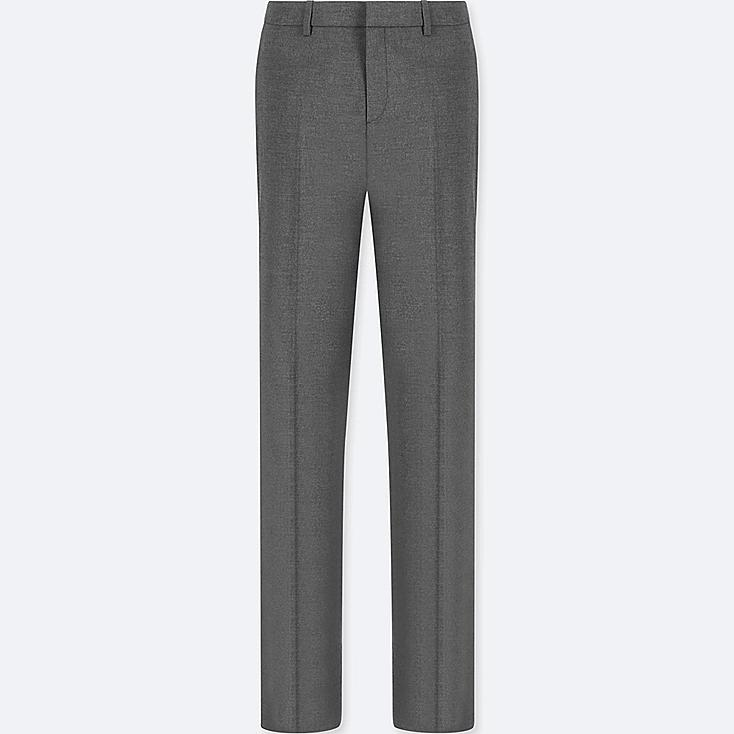 WOMEN STRETCH SET UP PANTS (ONLINE EXCLUSIVE), GRAY, large