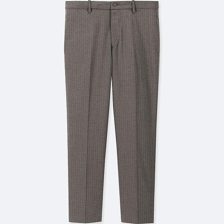 MEN EZY ANKLE-LENGTH PANTS (STRIPE), GRAY, large