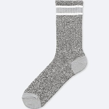 MEN HEATTECH HEATHER LINE SOCKS