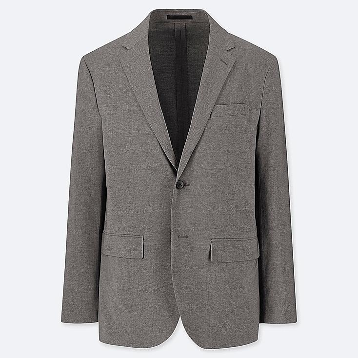 MEN KANDO JACKET (WOOL LIKE), GRAY, large