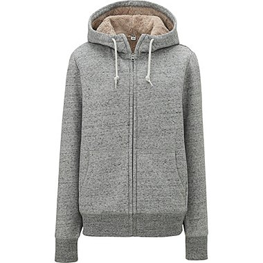 WOMEN FLEECE-LINED FULL-ZIP HOODIE