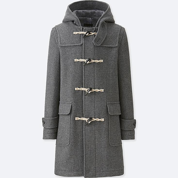 MEN Wool Blend Duffle Coat | UNIQLO