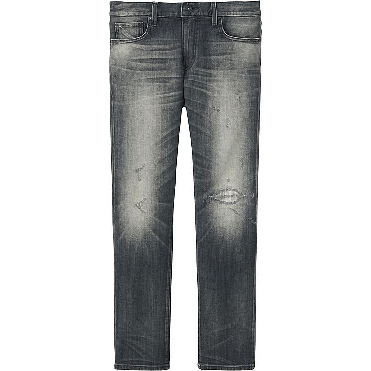 MEN Slim Fit Damaged Jeans