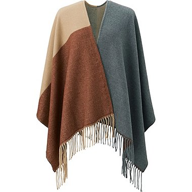 WOMEN 2-WAY STOLE, GRAY, medium