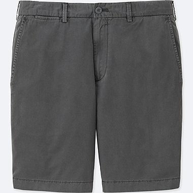 MEN CHINO SHORTS, GRAY, medium