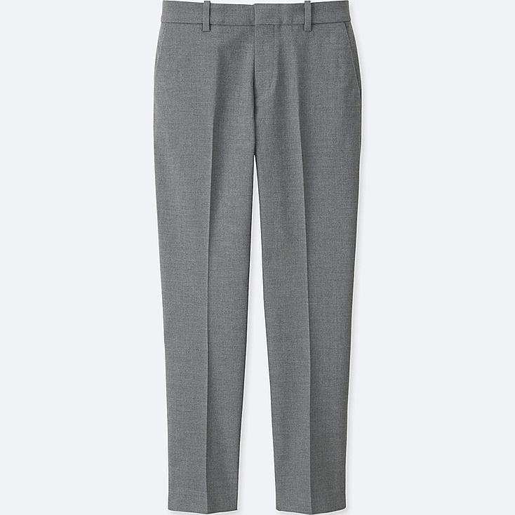 WOMEN DRY STRETCH CROPPED PANTS, GRAY, large