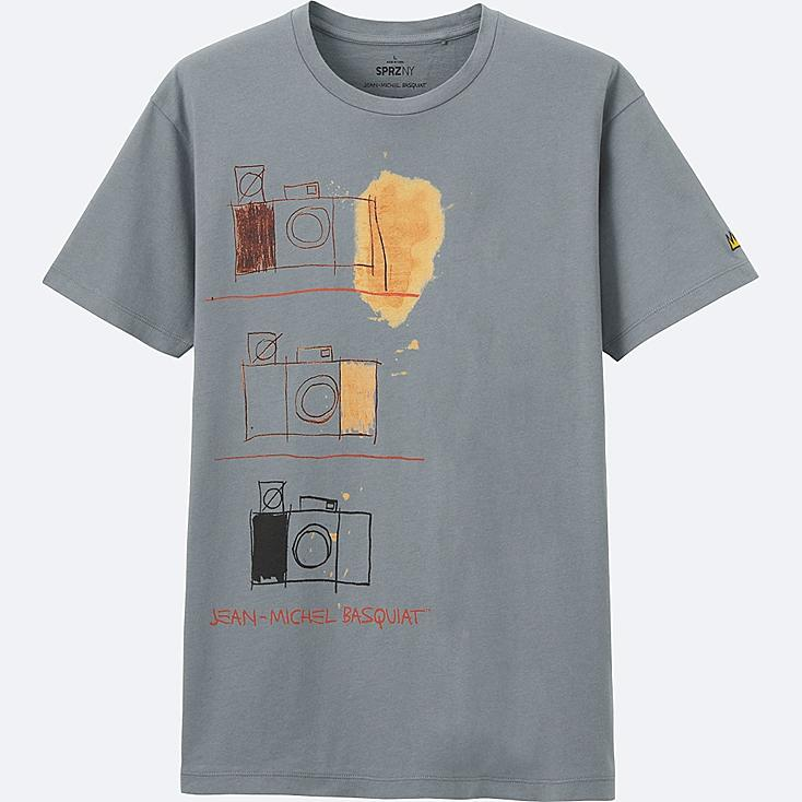 MEN SPRZ NY SHORT SLEEVE GRAPHIC T (JEAN-MICHEL BASQUIAT), GRAY, large