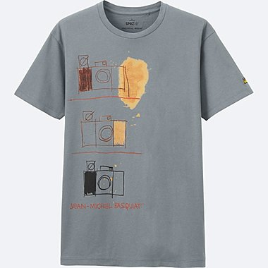 MEN SPRZ NY SHORT SLEEVE GRAPHIC T (JEAN-MICHEL BASQUIAT), GRAY, medium