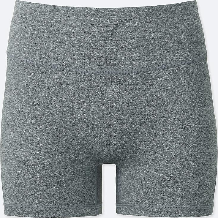 WOMEN AIRism ACTIVE  SHORTS, GRAY, large