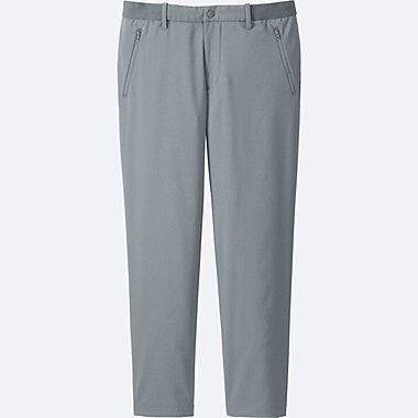 MEN RELAXED ANKLE LENGTH PANTS (DRY), GRAY, medium