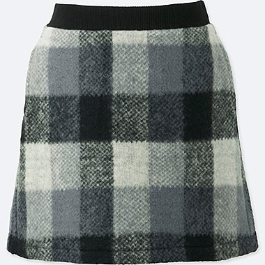 GIRLS FLEECE CHECKED SKIRT
