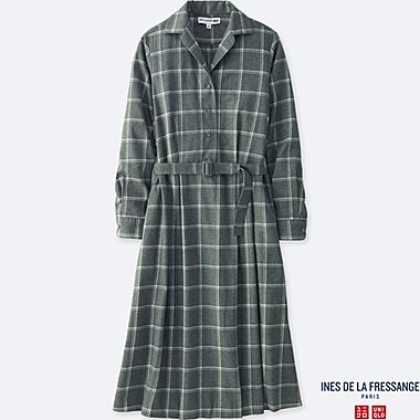 WOMEN INES COTTON FLANNEL DRESS