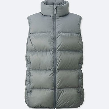 MEN LIGHT DOWN VEST (ONLINE EXCLUSIVE), GRAY, medium
