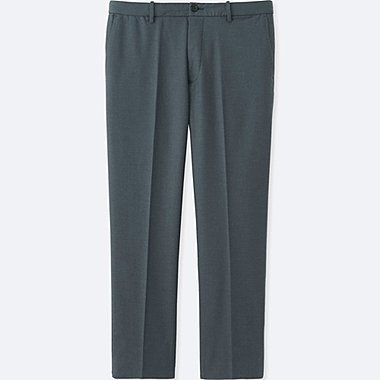MEN RELAXED ANKLE PANTS (COTTON), GRAY, medium