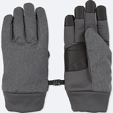 MEN HEATTECH LINING FUNCTION GLOVES, GRAY, medium