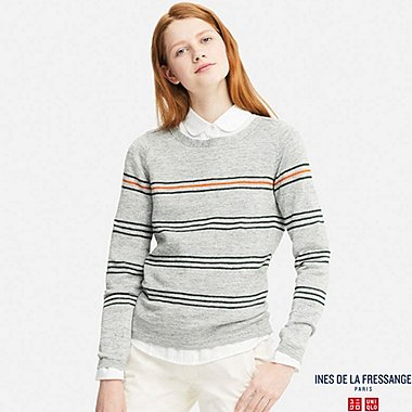 WOMEN INES PREMIUM LINEN STRIPED SWEATER