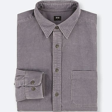 MEN CORDUROY LONG SLEEVE SHIRT
