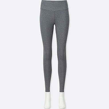 WOMEN AIRism LEGGINGS, GRAY, medium