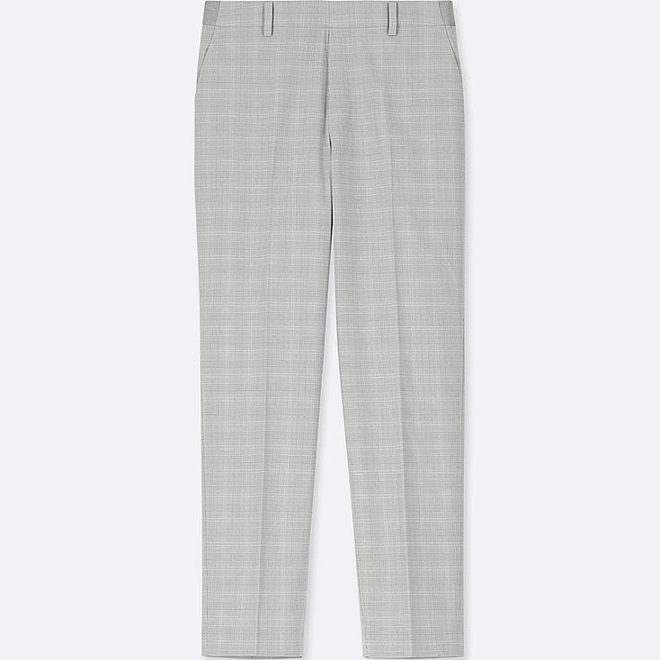 WOMEN EZY ANKLE-LENGTH PANTS, GRAY, large