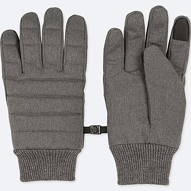 MEN HEATTECH LINING QUILTED GLOVES