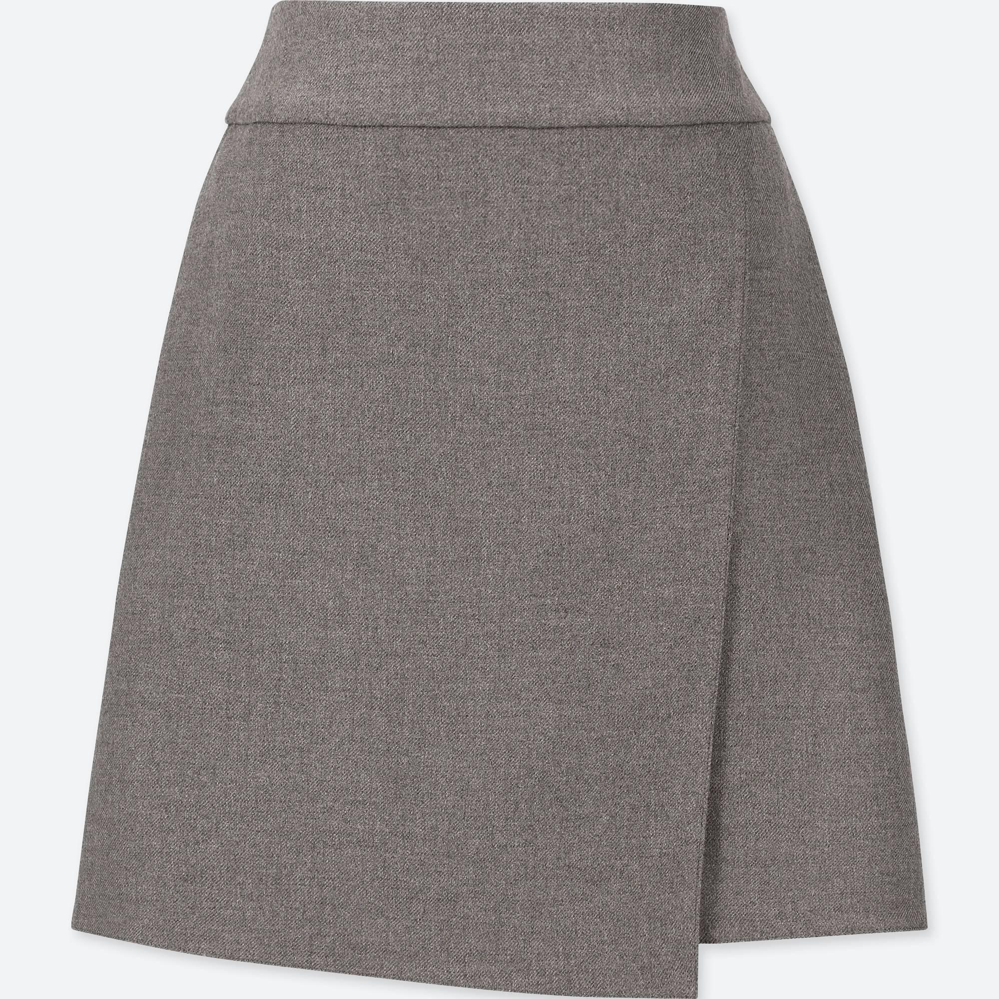 ユニクロ/ スカート women wrap high-waist mini skirt