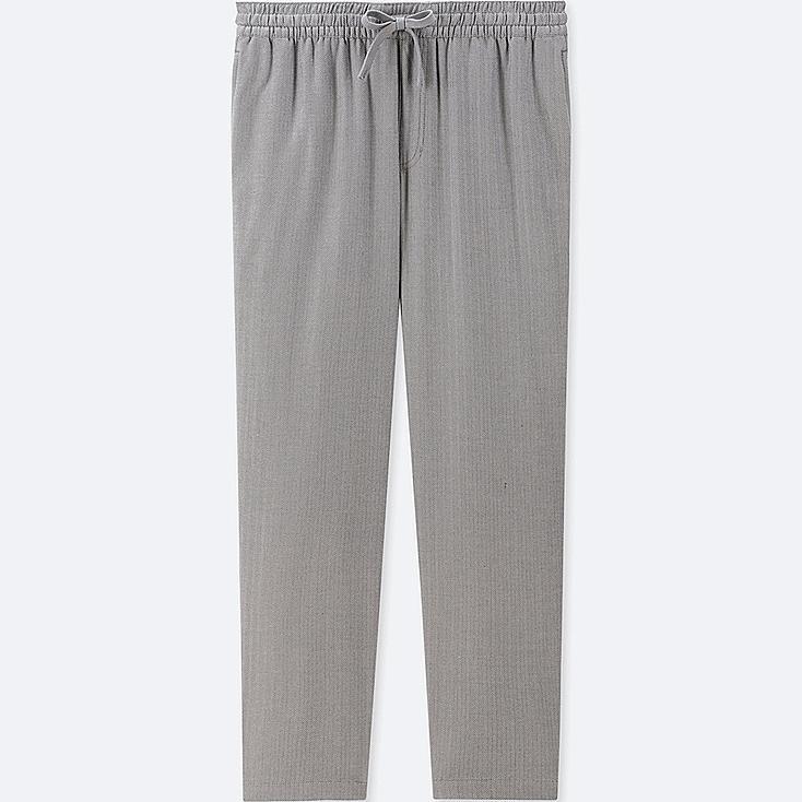 MEN FLANNEL EASY PANTS, GRAY, large