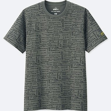 MEN SPRZ NY GRAPHIC T-SHIRT (JEAN-MICHEL BASQUIAT), GRAY, medium