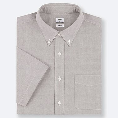 HERREN KURZÄRMLIGES OXFORD-HEMD (SLIM FIT)