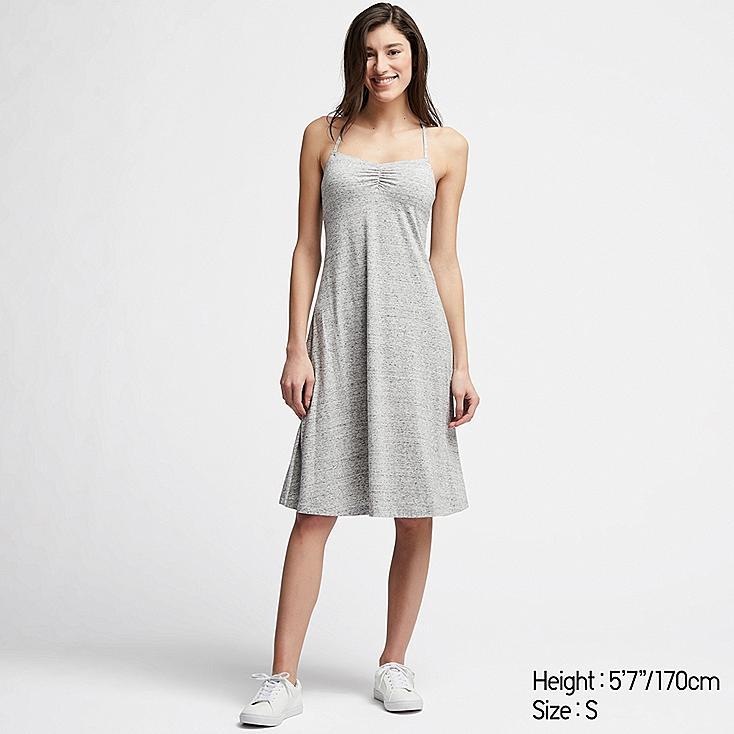 WOMEN CAMISOLE BRA DRESS, GRAY, large