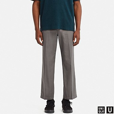 MEN UNIQLO U REGULAR FIT ANKLE LENGTH TROUSERS