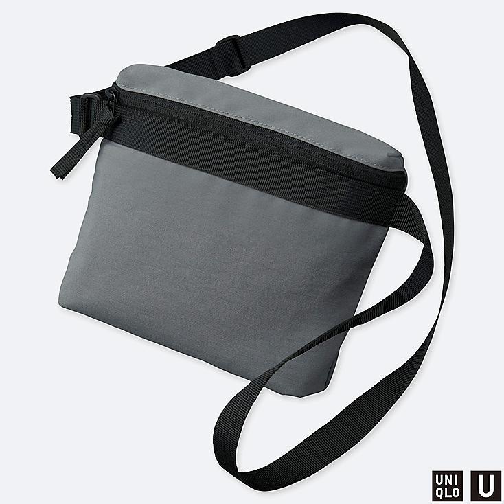 U MINI SHOULDER BAG, GRAY, large