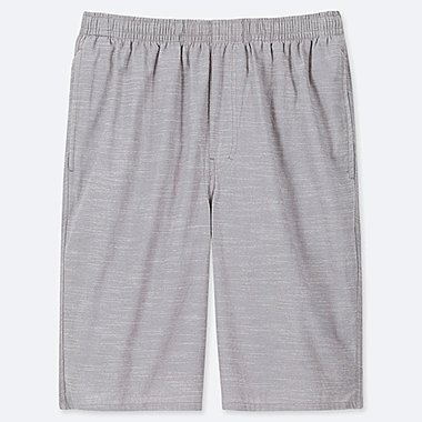 MEN LIGHT COTTON EASY SHORTS (ONLINE EXCLUSIVE), GRAY, medium