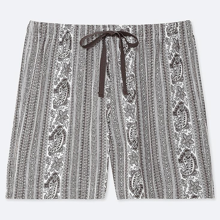 WOMEN PROVENCE PRINTED RELACO SHORTS, GRAY, large