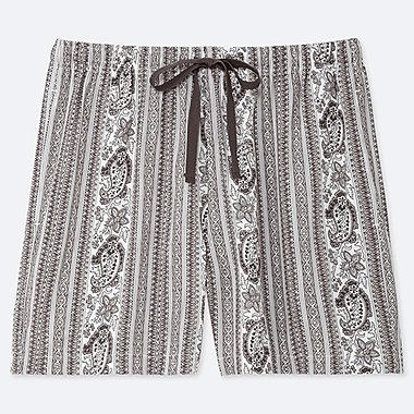 WOMEN PROVENCE PRINTED RELACO SHORTS, GRAY, medium