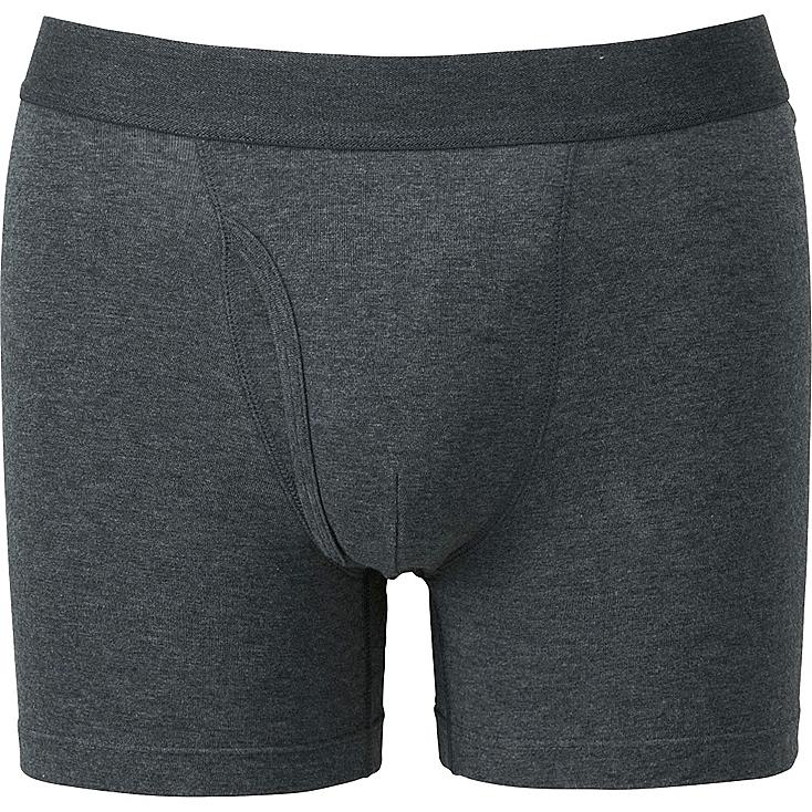 Men's Supima® Cotton Boxer Briefs, GRAY, large