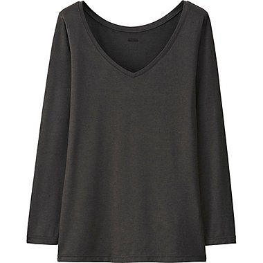 HEATTECH T-Shirt Col V Manches Longues FEMME