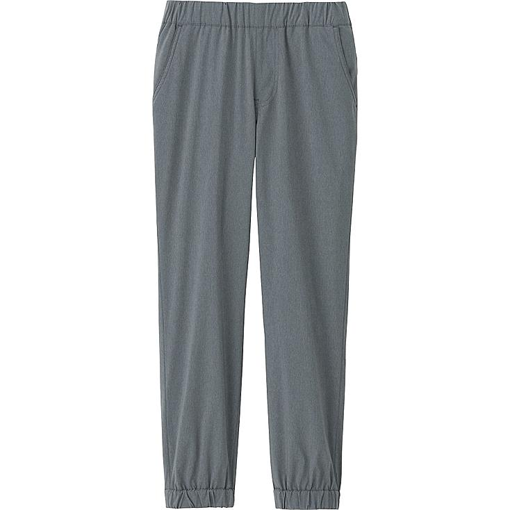 KIDS WARM-LINED STRETCH JOGGER PANTS, GRAY, large