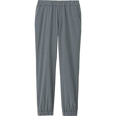 KIDS WARM-LINED STRETCH JOGGER PANTS, GRAY, medium