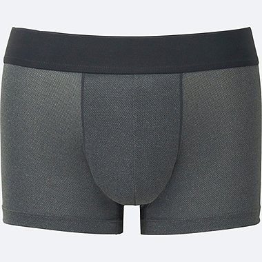 MEN AIRism MESH LOW RISE BOXER BRIEFS, GRAY, medium