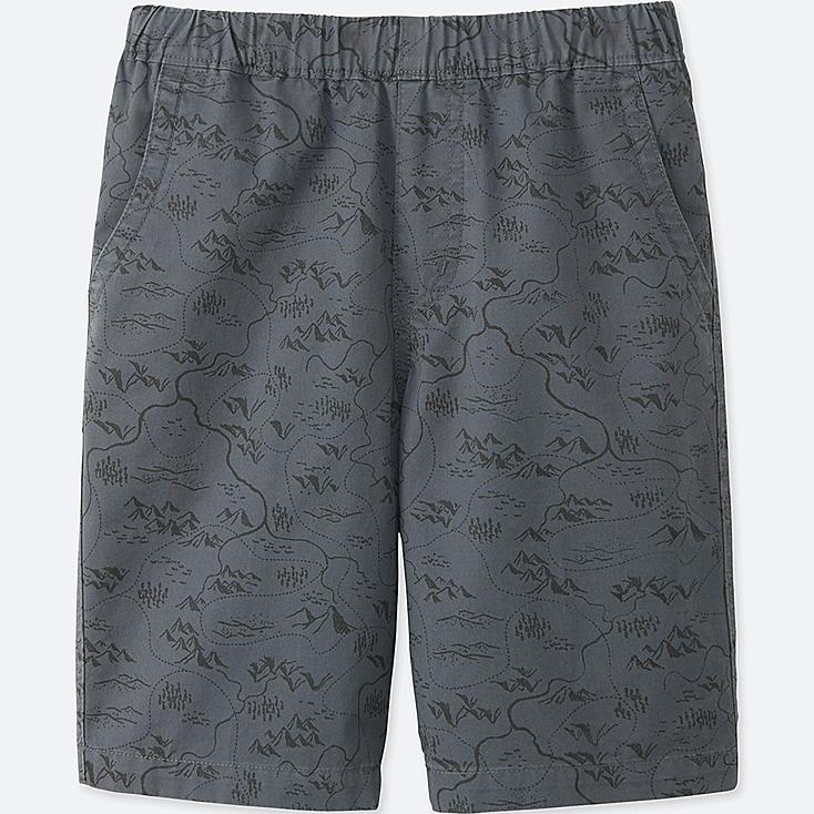 BOYS EASY SHORTS, GRAY, large