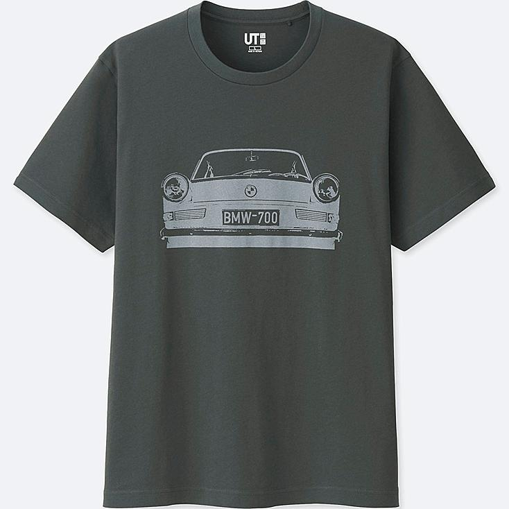 MEN THE BRANDS SHORT-SLEEVE GRAPHIC T-SHIRT (BMW), GRAY, large