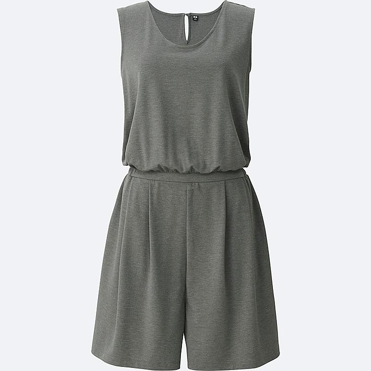 WOMEN ROMPER, GRAY, large