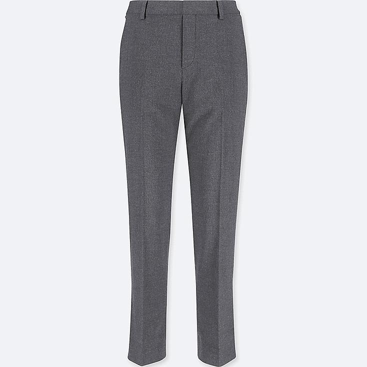 WOMEN SMART STYLE ANKLE-LENGTH PANTS, GRAY, large