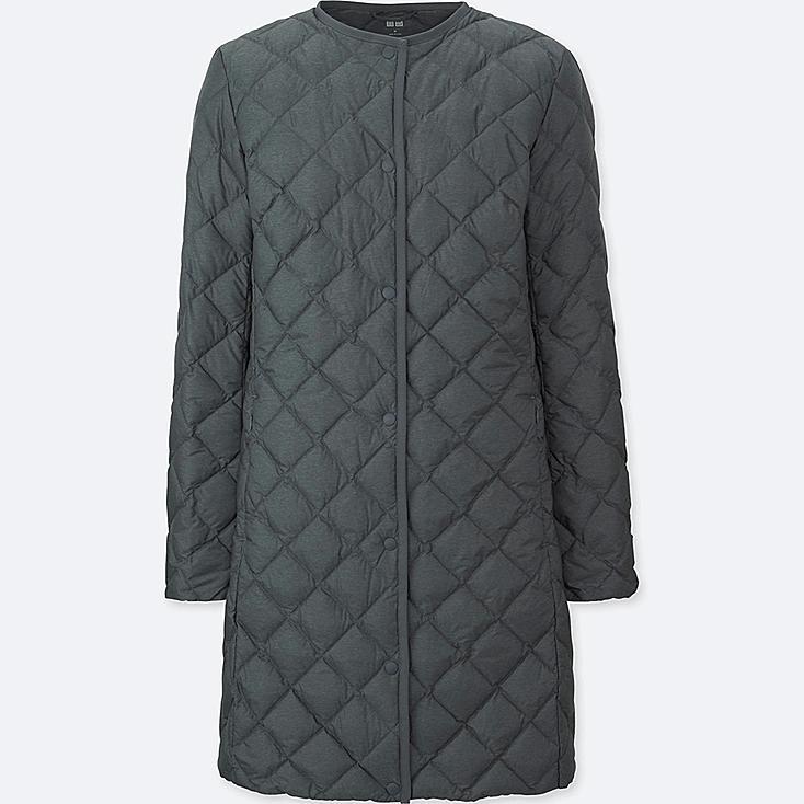 Women Ultra Light Down Compact Coat, GRAY, large